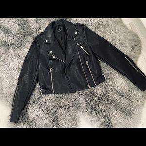 Zara Black Leather Jacket for